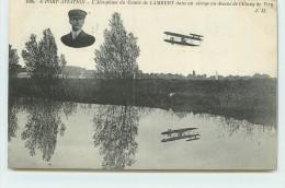 PORT AVIATION (Juvisy) - L´aéroplane Du Comte De Lambert Dans Un Virage Au Dessu De L'étang De Viry. - Aérodromes