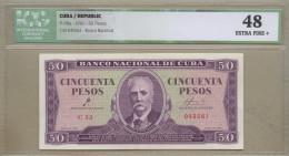 Cuba - 50 Pesos  1961  P98a  EF+  !!!!!!!!!!!!!!!!!  ( Banknotes ) - Cuba