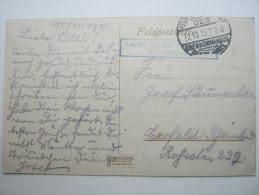 1915,  VOUZIERS , (CP)    ,  Carte Militaire   , 2 Scans - Marcofilie (Brieven)