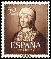ESPAÑA SEGUNDO CENTENARIO NUEV Nº 1092 **50C CASTAÑO ISABEL LA CATOLICA - 1931-50 Neufs