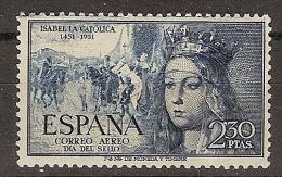 ESPAÑA SEGUNDO  CENTENARIO NUEV Nº 1101 ** 2,3P AZUL OSCURO ISABEL LA CATOLICA - 1931-50 Neufs