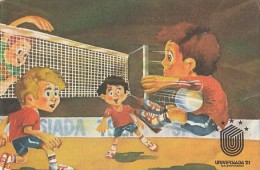 7365- POSTCARD, VOLLEYBALL, UNIVERSITY GAMES - Volleyball
