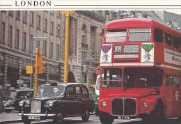 7409- POSTCARD, LONDON BUSS, TAXI - Busse & Reisebusse