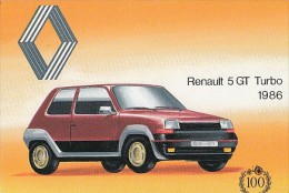 7422- POSTCARD, CARS, RENAULT 5 GT TURBO 1986 - PKW