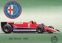 7453- POSTCARD, CARS, FORMULA 1, ALFA ROMEO 1984 - Grand Prix / F1