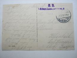 1915, Bantheville  (CP)    ,  Carte Militaire   , 2 Scans - Marcofilie (Brieven)