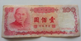 TAIWAN 100 YUAN 1987 - Taiwan