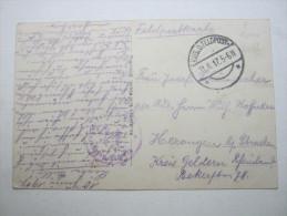 1917 , Samonieux   (CP)    ,  Carte Militaire   , 2 Scans - Marcofilie (Brieven)