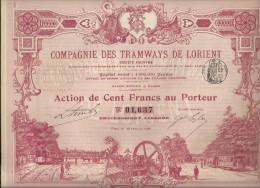 TRAMWAYS DE LORIENT - Chemin De Fer & Tramway