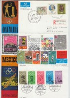 Greece Mexico Germany 3 FIRST DAY COVERS OLYMPIC GAMES FDC 1968 - Summer 1968: Mexico City
