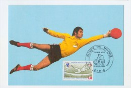 R 001 France 1982 Futbol Soccer Football Aniversary Profes. Goalkeeper Maximum Card - Wereldkampioenschap