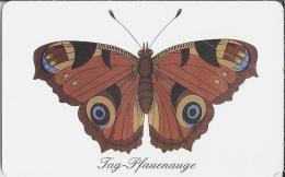 Telefoonkaart.- Duitsland. Das Tag-Pfauenauge. 12 DM. Telefonkarte. Vlinder. Dagpauwoog (Aglais Io)  Nymphalidae . - Duitsland