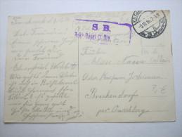 1916 , Virry-en-Artois    (CP)    ,  Carte Militaire   , 2 Scans - Marcofilie (Brieven)