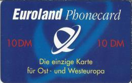 DE.- Euroland Phonecard. 10 DM. Die Einzige Karte Für Ost - Und Westeuropa. Serial No 5219962 - GSM, Voorafbetaald & Herlaadbare Kaarten