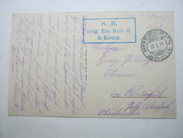 1915, Provencheres   (CP)    ,  Carte Militaire   , 2 Scans - Marcofilie (Brieven)