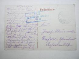 1915, Vouziers    (CP)    ,  Carte Militaire   , 2 Scans - Marcofilie (Brieven)