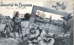 (64) - Bayonne - Carte Souvenir - Stage De Mitrailleurs - Militaire - Military - 2 SCANS - Bayonne