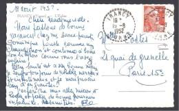 Yonne - Cachet Pointillé De  IRANCY - Marcophilie (Lettres)