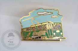 Old Tram Green Colour - Coca Cola Advertising - Pin/ Badge - Transportes