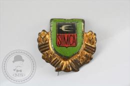 Old SIMCA Motor Car Tin  Advertising Needle Pin/ Badge - Pin