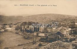 BLANDAS - N° 2372 - VUE GENERALE ET LA PLACE - France