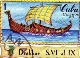 B - 1972 Cuba - Drakkar - Altri (Mare)