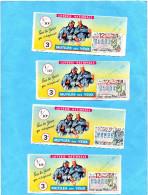 LOTERIE NATIONALE -4 Billets -illustrés -mutilés Des Yeux -soldats 1914-18-12 Tr 1966 - Billets De Loterie