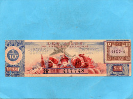 LOTERIE NATIONALE -1 Billet  -illustrés -les Ailes De L'empire Françaisfédé Des Coloniaux Soldats-26° Tr 1942 - Billets De Loterie
