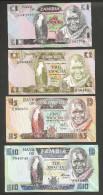 [NC] ZAMBIA - BANK Of ZAMBIA - 1 / 2 / 5 / 10 KWACHA - LOT Of 4 DIFFERENT BANKNOTES - Zambia