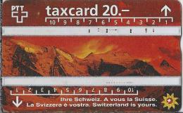 CH.- Telecom. PTT. Taxcard 20.-. Ihre Schweiz. A Vous La Suisse. La Svizzera è Vostra. Telefoonkaart. Zwitserland. 603C - Zwitserland
