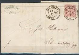Baden/Preußen, Brief(NDP Nr.16 ) Görlitz-Schmiedeberg + Baden Nr.5o, Feinst - Baden
