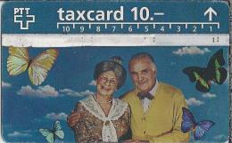 CH.- Telecom. PTT. Taxcard 10.--. Telefoonkaart. Zwitserland. 511B. Vlinders. - Zwitserland