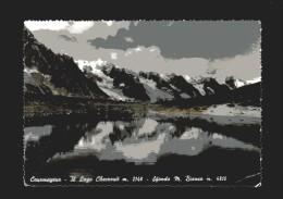 Courmayeur -x-  Il Lago Checrouit - Sfondo Monte Bianco. Vedi Descrizione - Italia