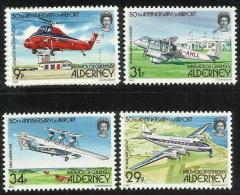 Alderney 1985 Airport 4 Values MNH - Alderney