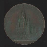 M�daille - Eglise de Laeken �rig�e par souscription nationale en l'honneur de la Reine Louise