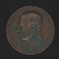M�daille - Charles de Brouck�re Bourgmestre de Bruxelles 1796-1860 graveur L�opold Wiener