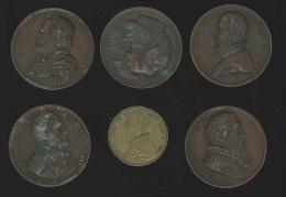 M�daille - Personnalit�s Juste Lipse, Charles Quint, Dodoens de Malines, PP Rubens, Comtes Egmont & Horn