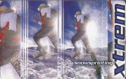 Telefonkarte.- Duitsland. Xtrem. Extreme Sportarten: Snowsprinting. 2 Scans - P & PD-Reeksen : Loket Van D. Telekom