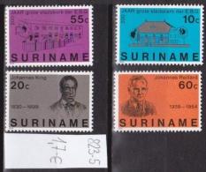 Surinam0067 4v MNH persons architecture