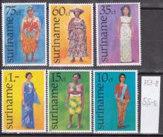 Surinam0068 6v MNH persons woman CV 5.50 eur