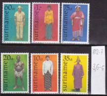 Surinam0071 6v MNH persons men costumes