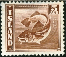 ISLANDA, ICELAND, FAUNA, PESCI, 1939, FRANCOBOLLO, NUOVO (MNG), Scott 219 - 1937-1949 Éire