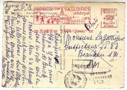 Sur CPM - EMA Illustrée Abbaye De Valloires (Argoules Somme) - Vron 1959 - FRANCO DE PORT - Marcophilie (Lettres)