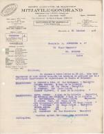 13 MARSEILLE FACTURE 1942 Société Algérienne De Transports MITJAVILLE  GONDRAND - B37 - Transports