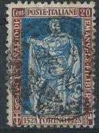 Italia 1928 Usato - Filiberto 25c Dent.13 1/2 VEDI SCAN - 1900-44 Vittorio Emanuele III