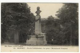 ALFORT. - Ecole Vétérinaire - Le Parc - Monument Trasbot. Carte RARE - Alfortville