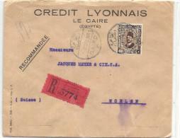 1934 R-Brief  In Die Schweiz - Égypte