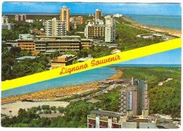 Italy, LIGNANO PINETA, La Spiaggia, Der Strand, Used Postcard [14079] - Udine