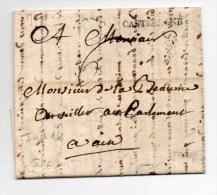1779 - LETTRE De CASTELLANE (ALPES DE HAUTE PROVENCE) Avec MARQUE 30mm - 1701-1800: Precursors XVIII