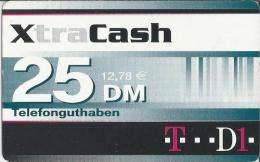 Telefonkarte.- Duitsland. XtraCash. 25 DM. 12.78 €.  Telefonguthaben - Deutschland. 2 Scans - GSM, Voorafbetaald & Herlaadbare Kaarten